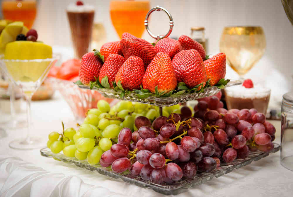 Wedding fruit table