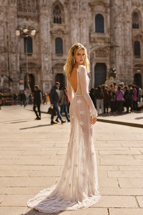 Wedding dresses with 3D flowers