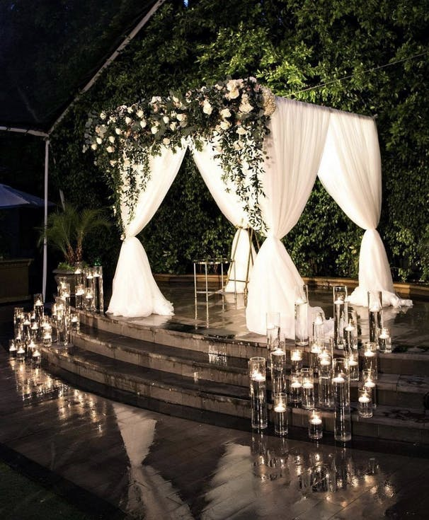 Decoration of a civil wedding outdoors