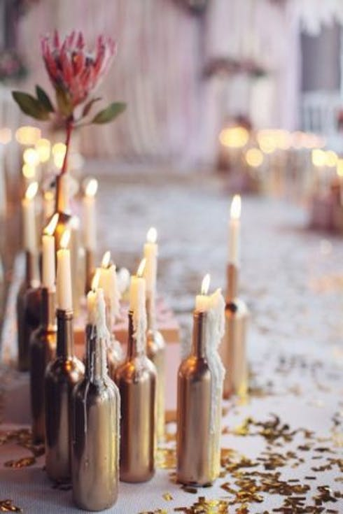 Wedding decorations with candles