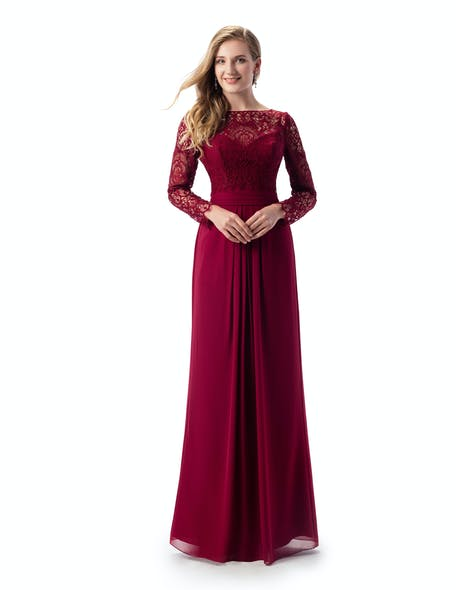 Maroon dress for a wedding